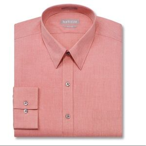 Van Heusen Fitted Chambray Point Collar Shirt (A)